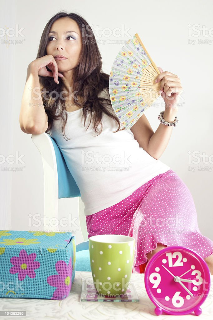 Morning girl royalty-free stock photo