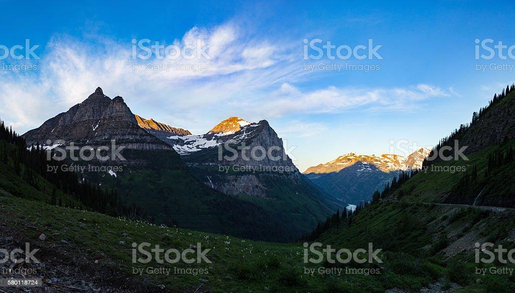 Morning Glacier Beauty stock photo