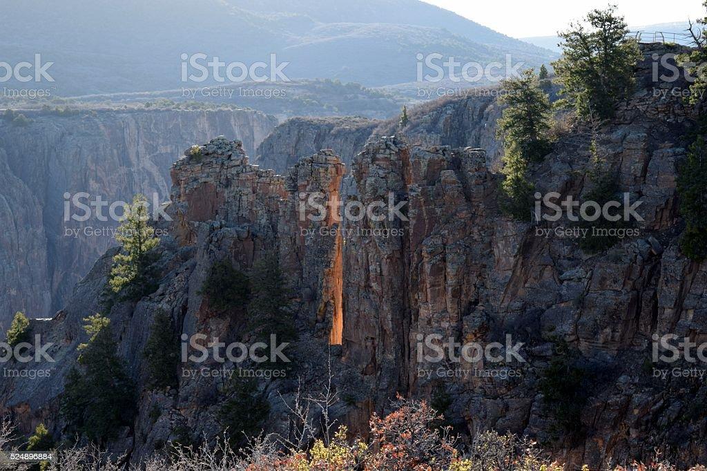 Morning Glow at the Black Canyon stock photo