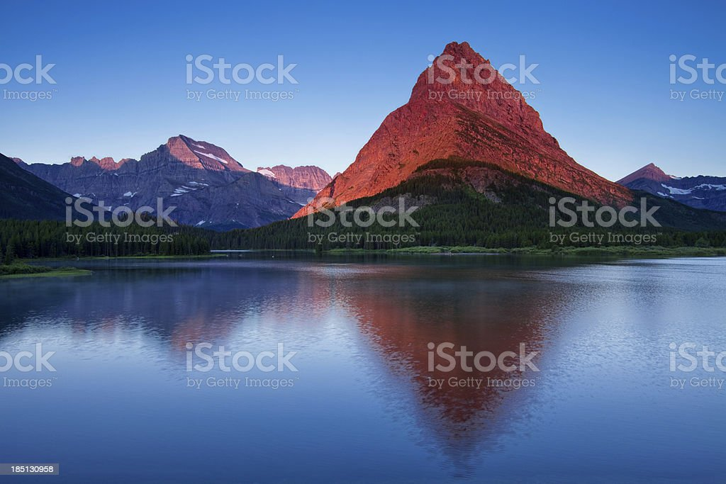 Morning Glow on Mountain stock photo