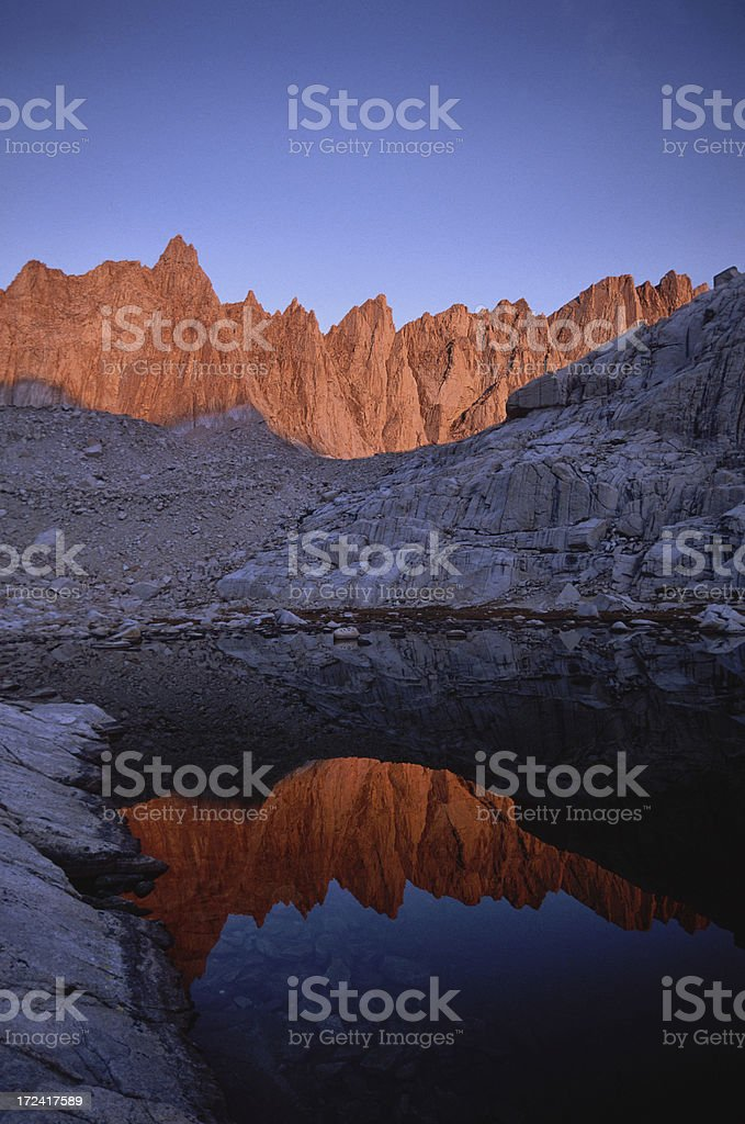 Morning Glow on the Sierra Nevada stock photo