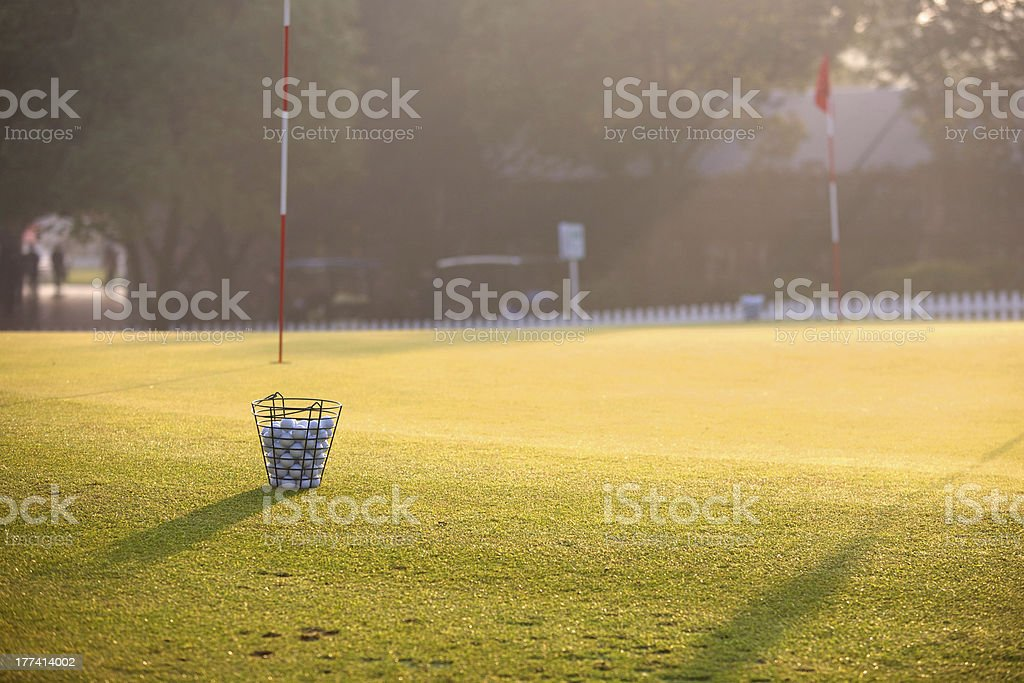 Morning Golf Practice royalty-free stock photo