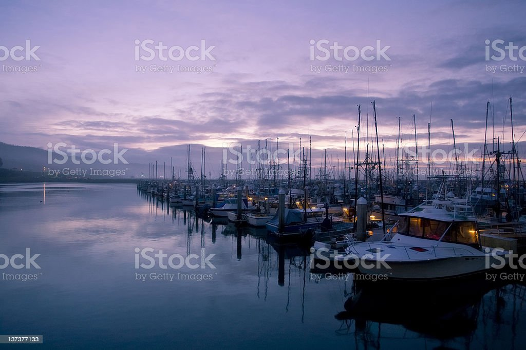 Morning Harbour royalty-free stock photo