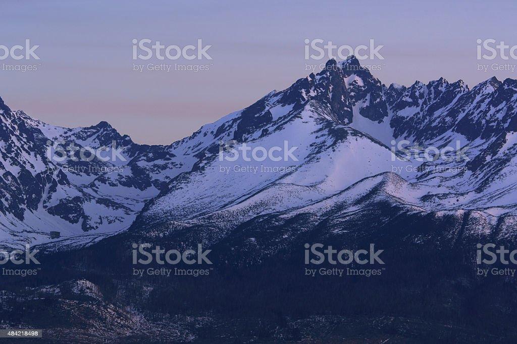 Mañana altas montañas Tatra foto de stock libre de derechos
