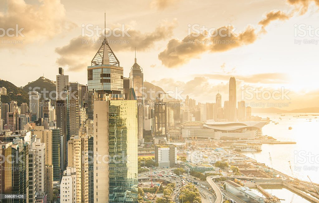 Morning Hong Kong, China stock photo