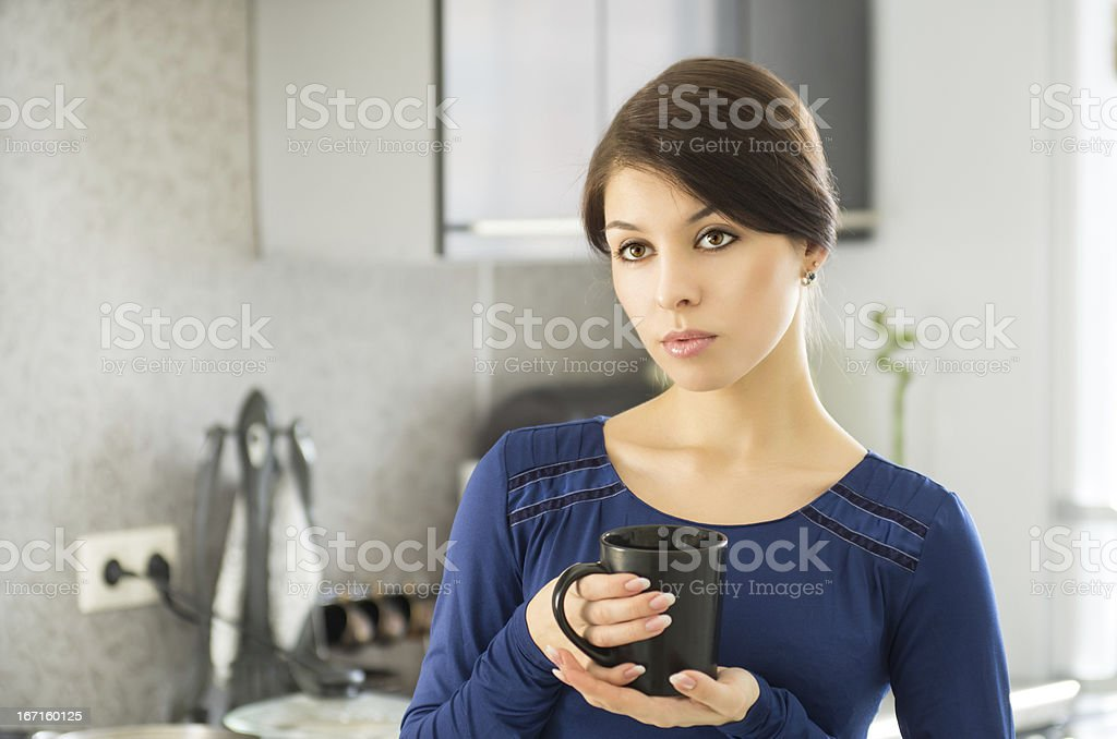 Morning housewife royalty-free stock photo