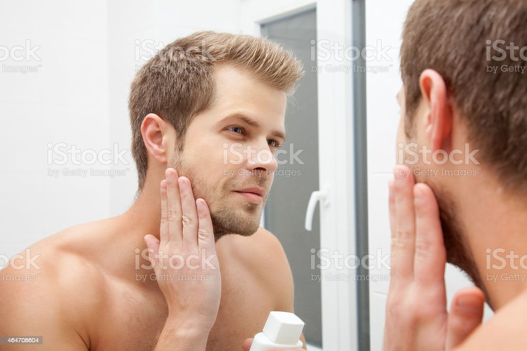 Morning hygiene stock photo