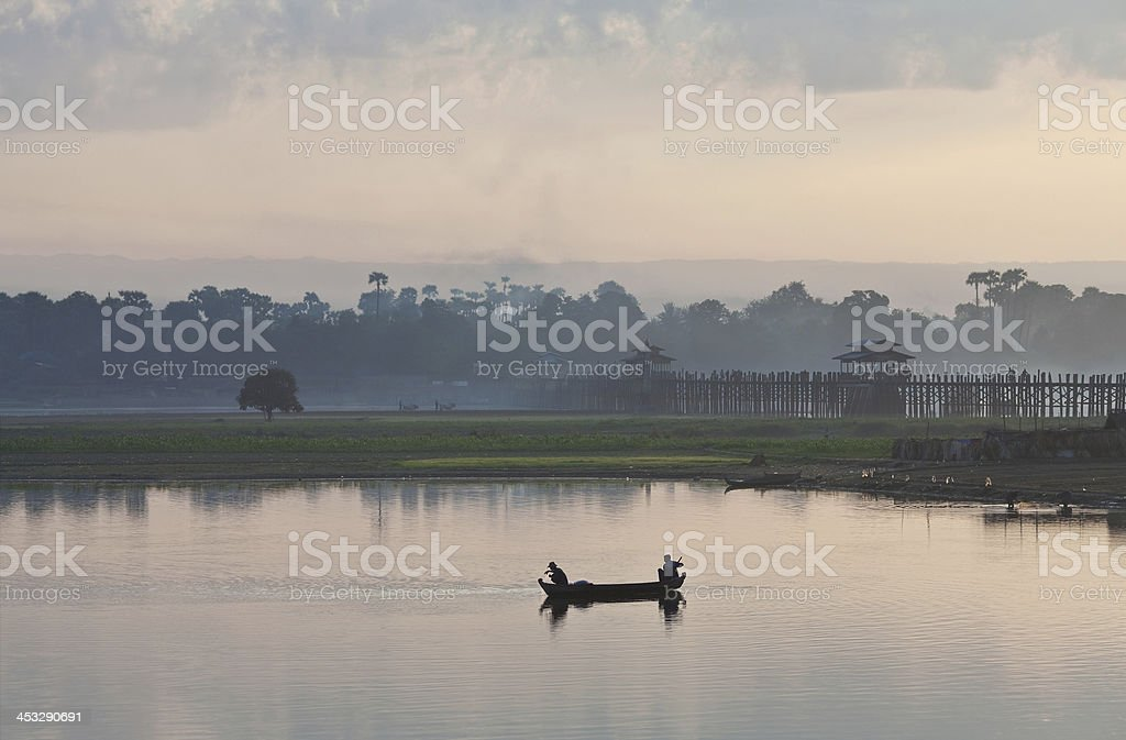 Morning in Amarapura, Mandalay Division, Myanmar royalty-free stock photo