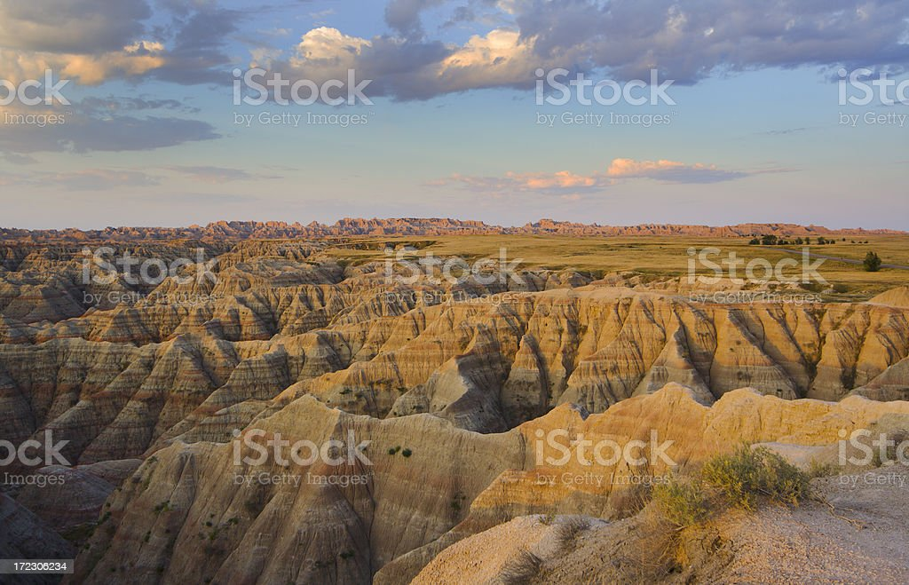Morning in Badlands stock photo