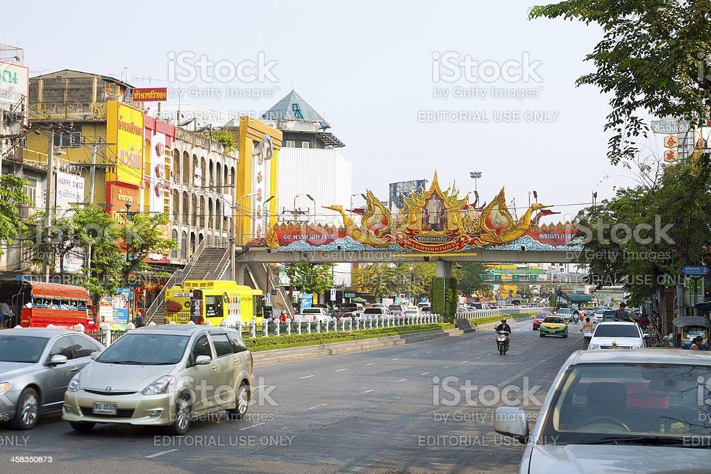 Morning in Bangkok Thon buri royalty-free stock photo