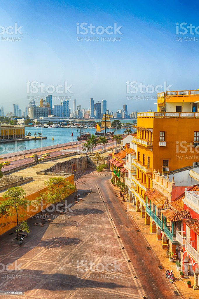 Morning in Cartagena stock photo