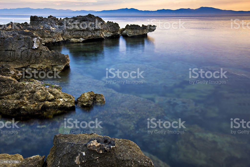 Morning in Costa Brava royalty-free stock photo