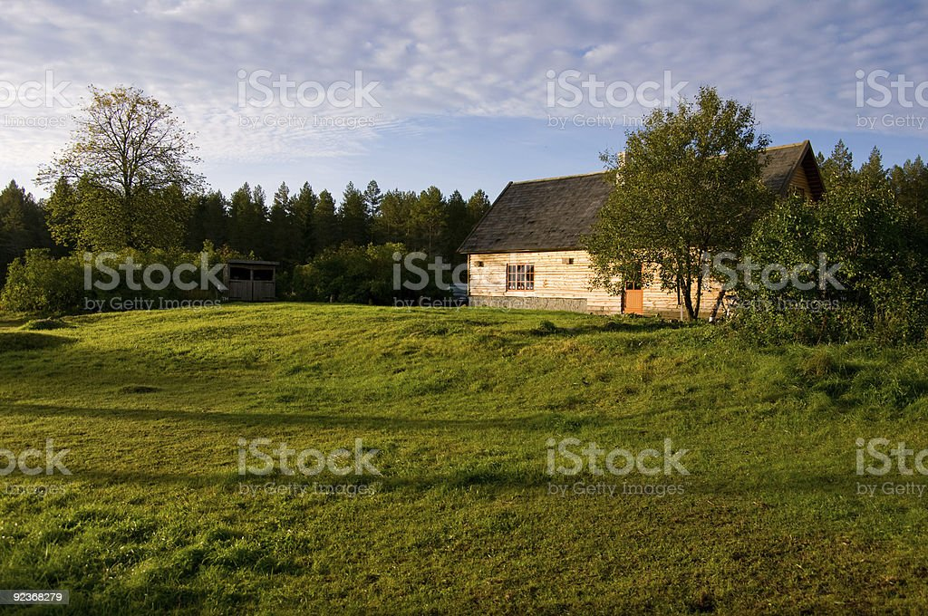 morning in farmstead royalty-free stock photo