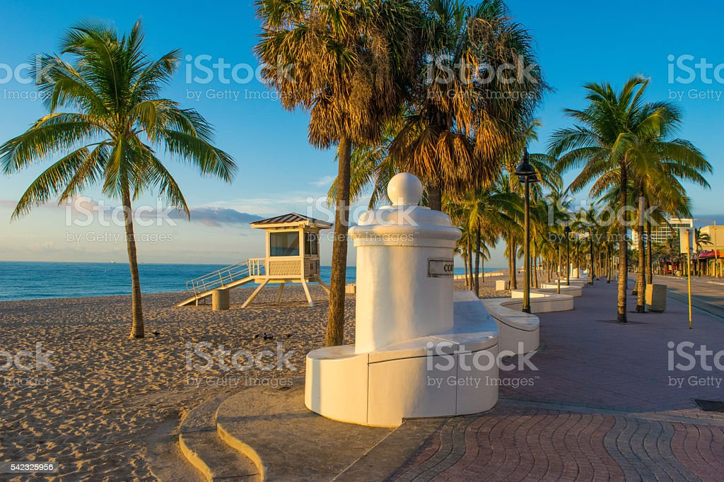 Morning in Fort Lauderdale stock photo