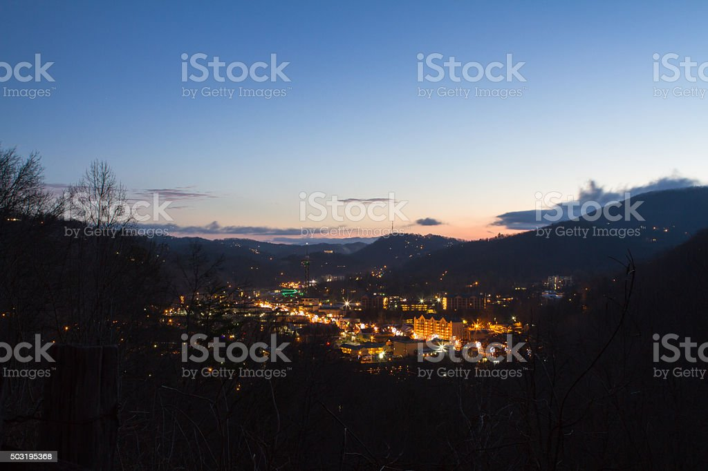 Morning In Gatlinburg stock photo
