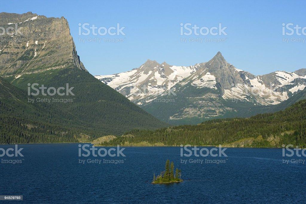 Morning in Glacier National Park royalty-free stock photo