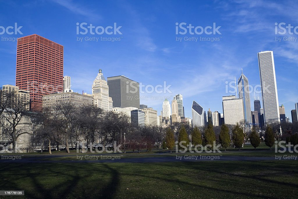 Morning in Grant Park royalty-free stock photo