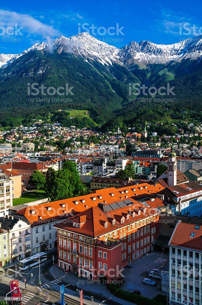 Morning in Innsbruck stock photo