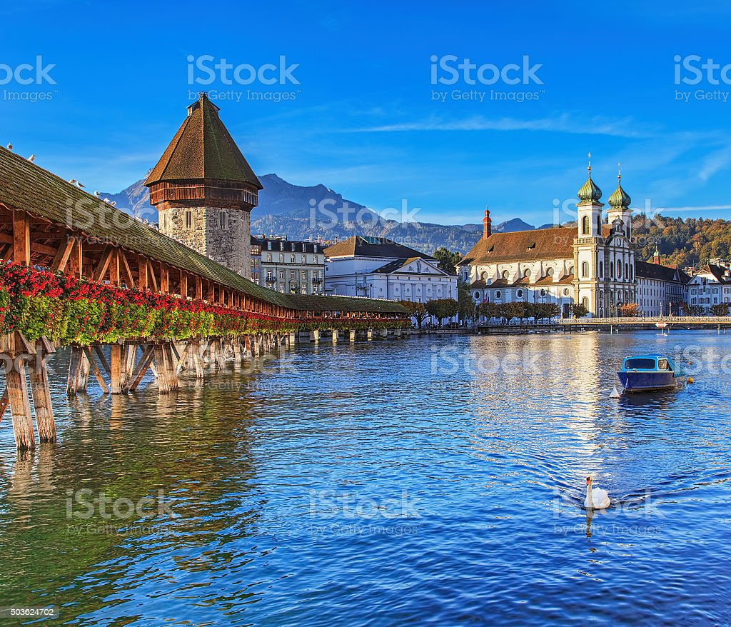 Morning in Lucerne stock photo