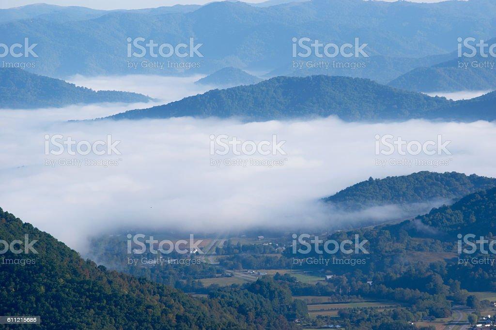 Morning in Maggie Valley, North Carolina stock photo