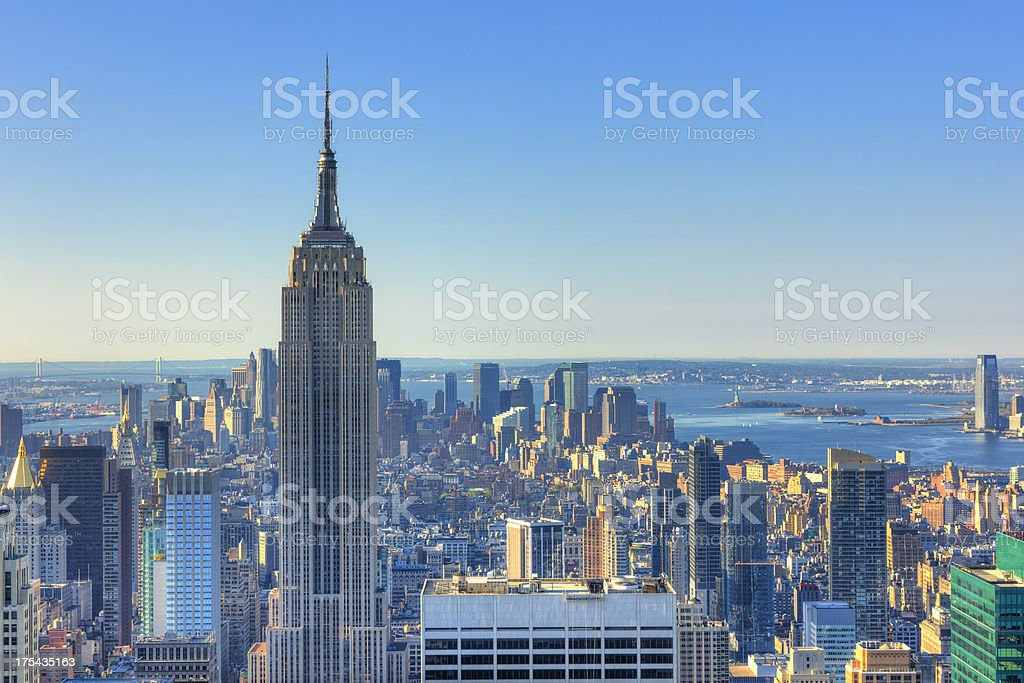 Morning in Mahattan, NYC stock photo