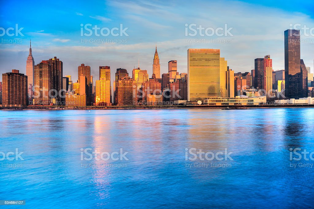 Morning in Manhattan, New York City stock photo