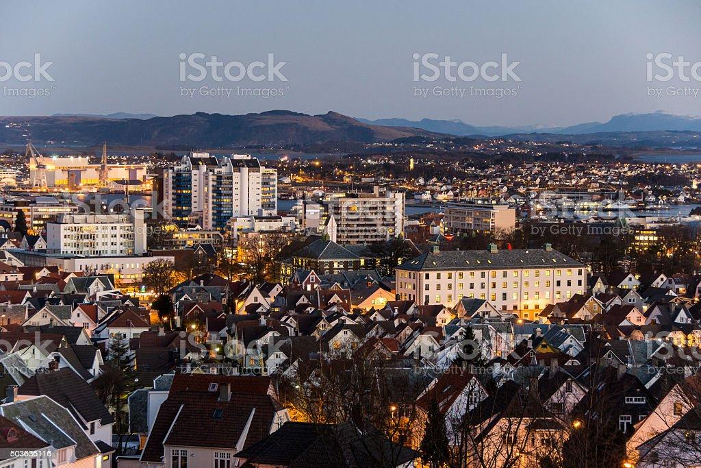 Morning in Stavanger stock photo