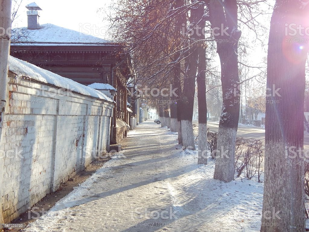 Morning in Suzdal stock photo