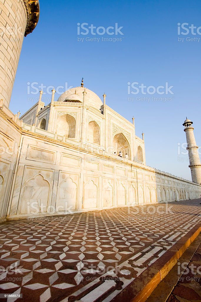 Morning in Taj Mahal royalty-free stock photo