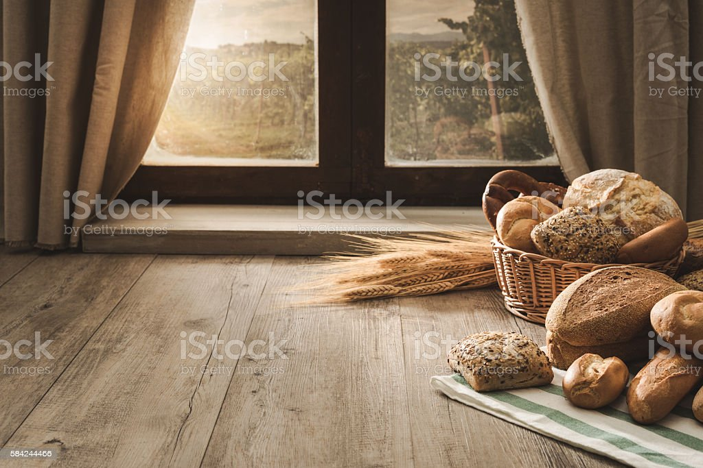 Morning in the countryside stock photo