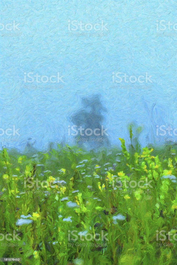 Morning in the field royalty-free stock vector art