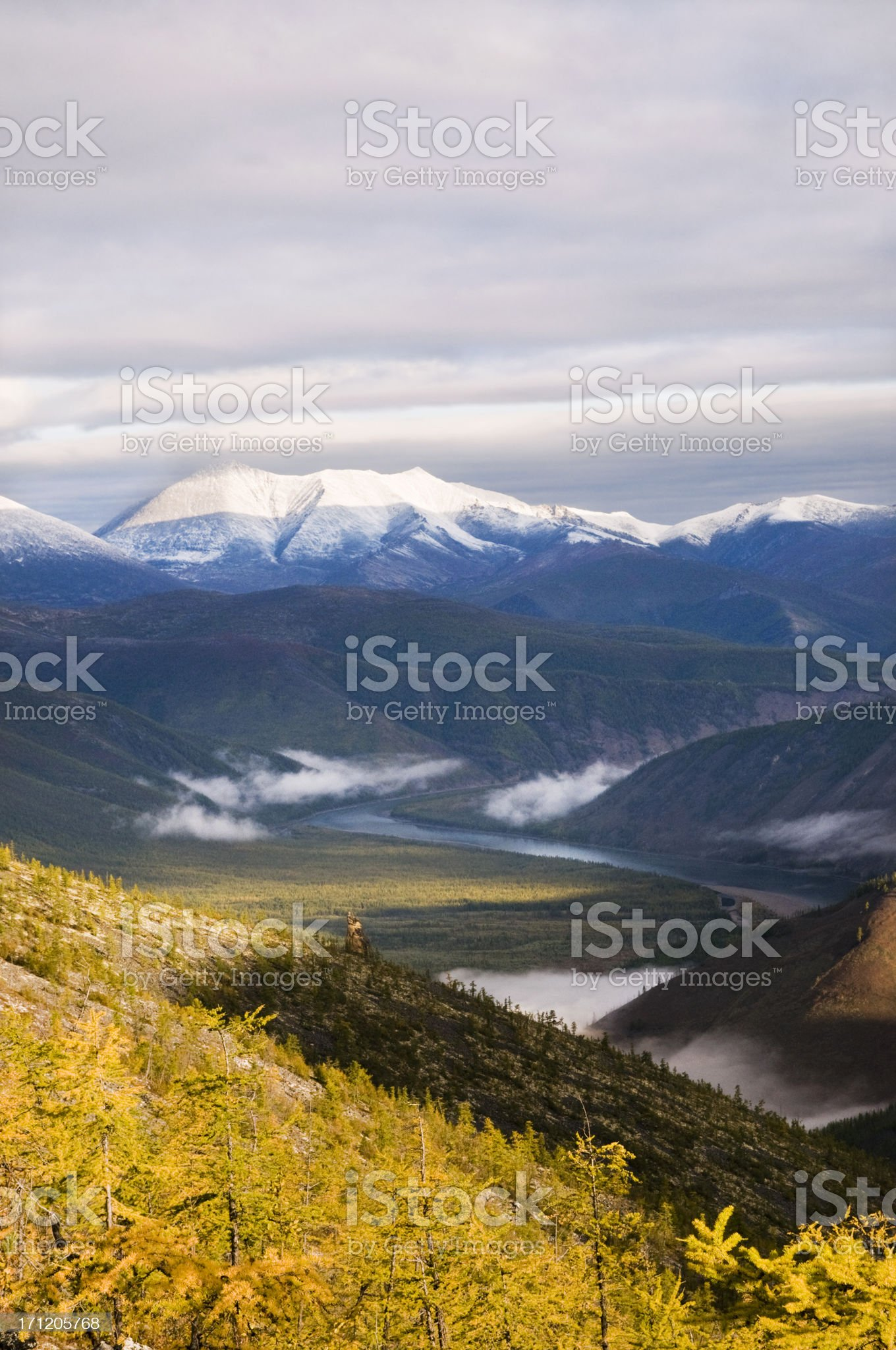 Morning in the mountains. royalty-free stock photo