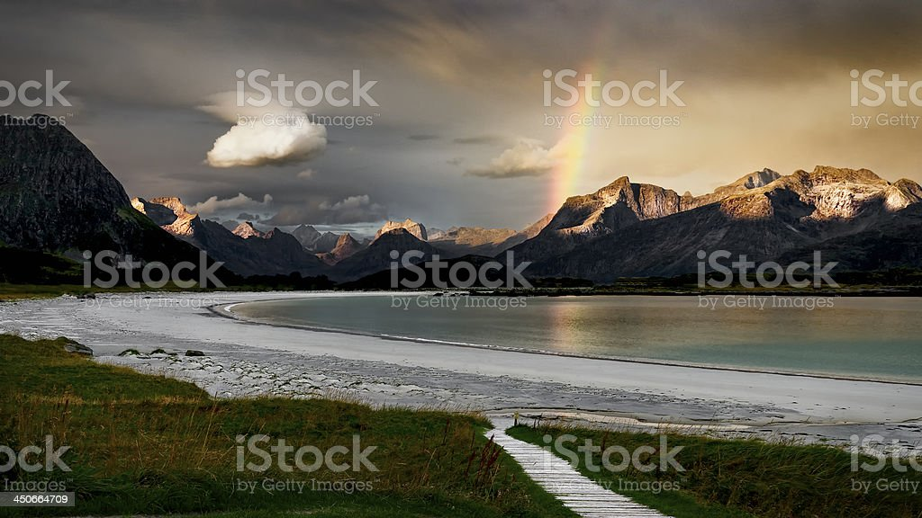 Morning in the Ramberg royalty-free stock photo