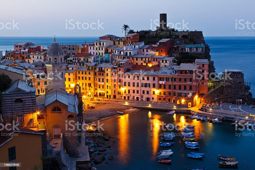Morning in Vernazza, Cinque Terre royalty-free stock photo