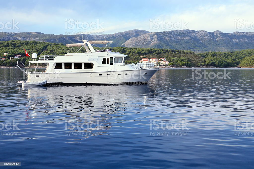 Morning in Vrboska bay royalty-free stock photo