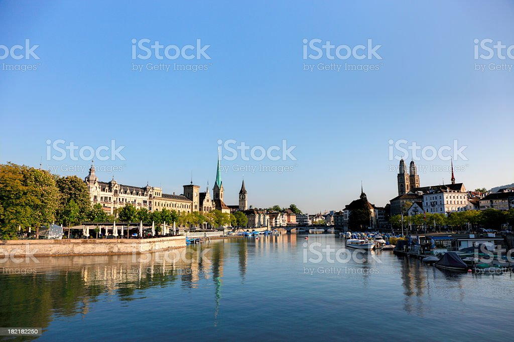 Morning in Zurich stock photo