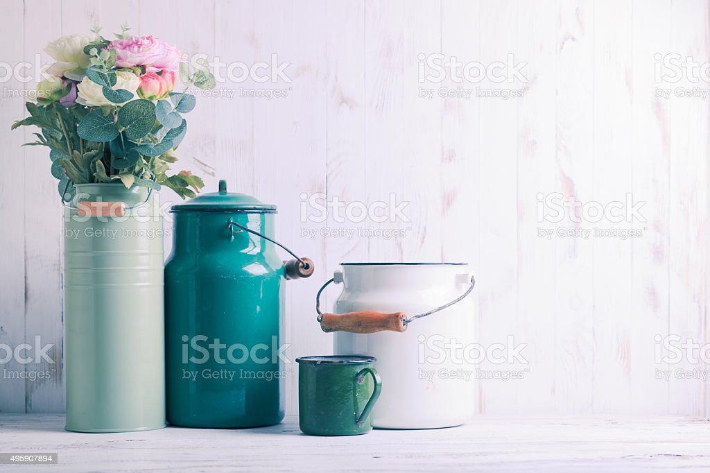 Morning kitchen still life stock photo