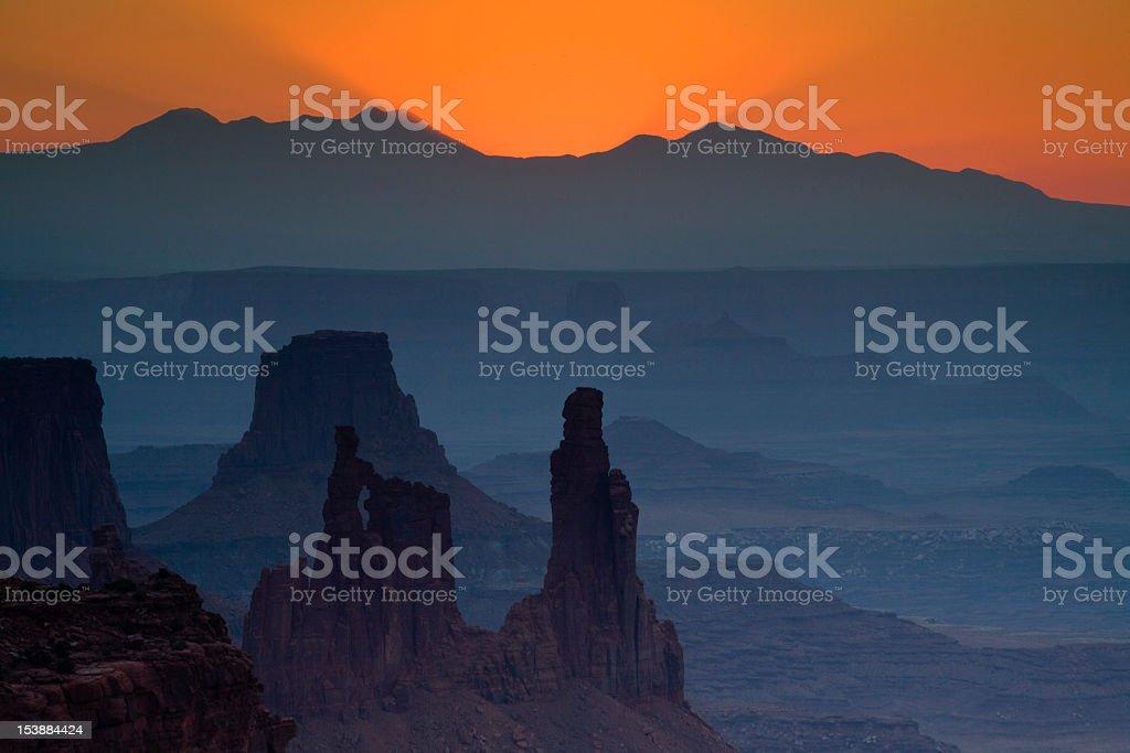 Morning Light at Canyonlands stock photo