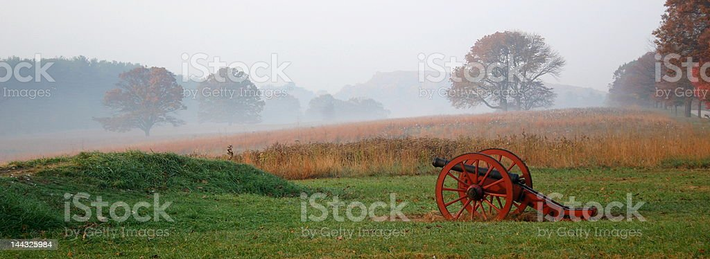 Morning Light At the Valley Forge National Park stock photo