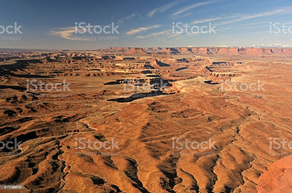 Morning Light on a Remote Desert Valley stock photo