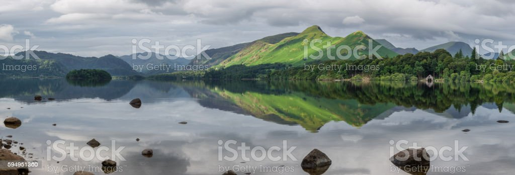 Morning Light On Catbells Mountain In The Lake District. stock photo