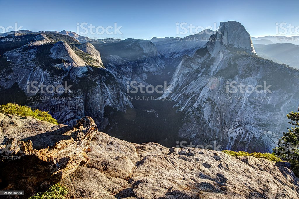 Morning Light on Half Dome stock photo