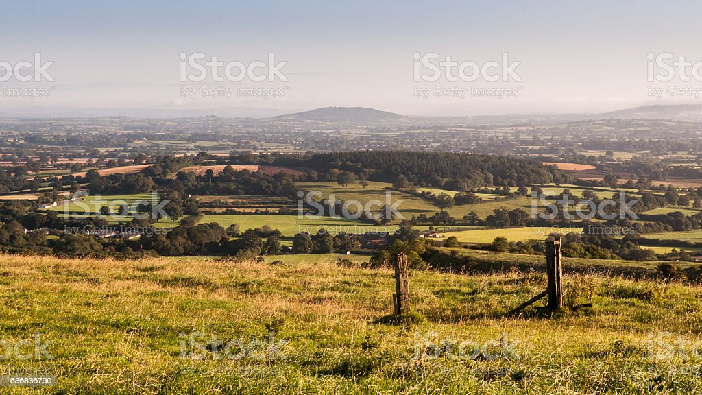 Morning light on the Blackmore Vale stock photo