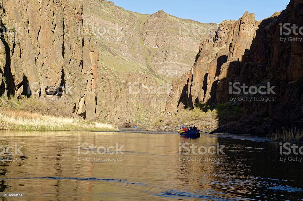 Morning Light on the Owyhee River stock photo