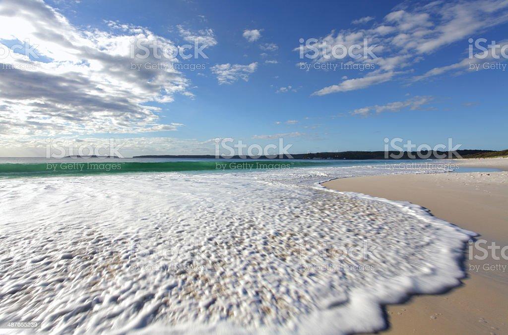 Morning light on the pristine beaches of Australia stock photo