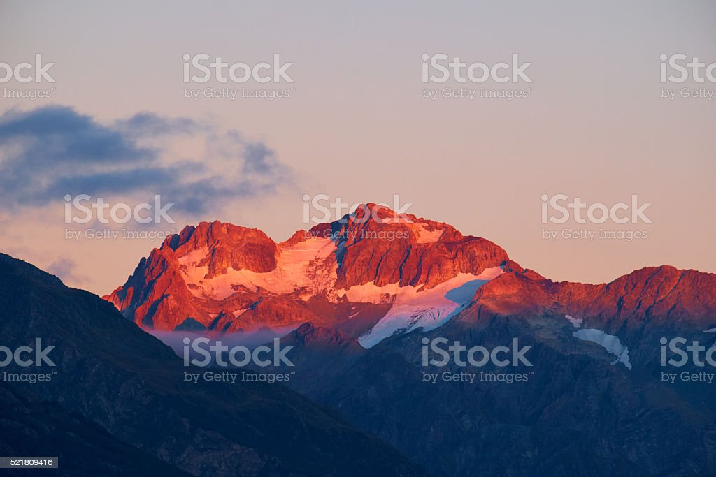 Morning Light On The Southern Alps stock photo