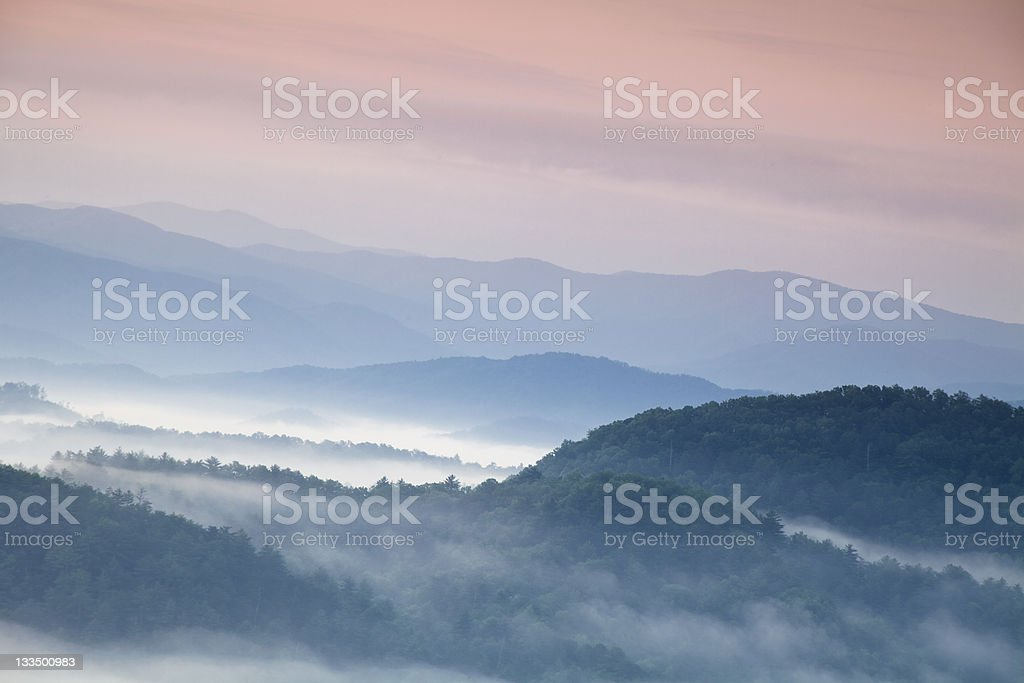 Morning Light over the Smoky Mountains royalty-free stock photo