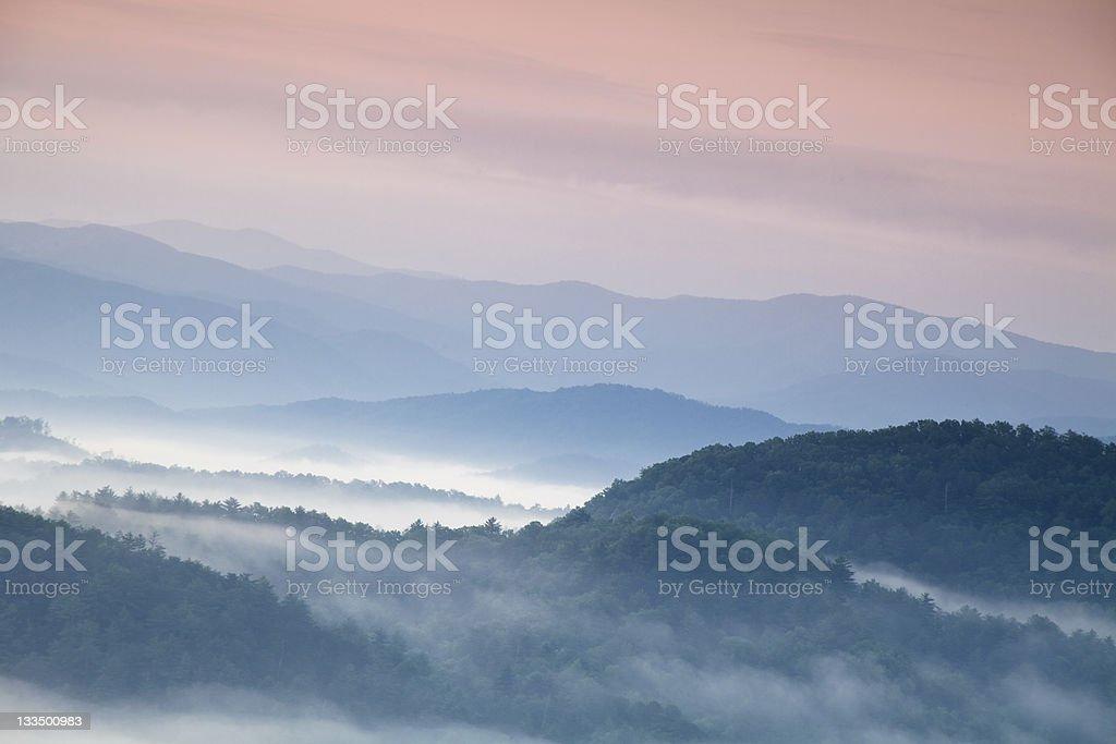Morning Light over the Smoky Mountains stock photo