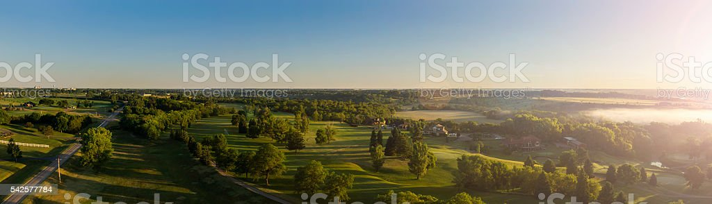 Morning Light Panoramic stock photo