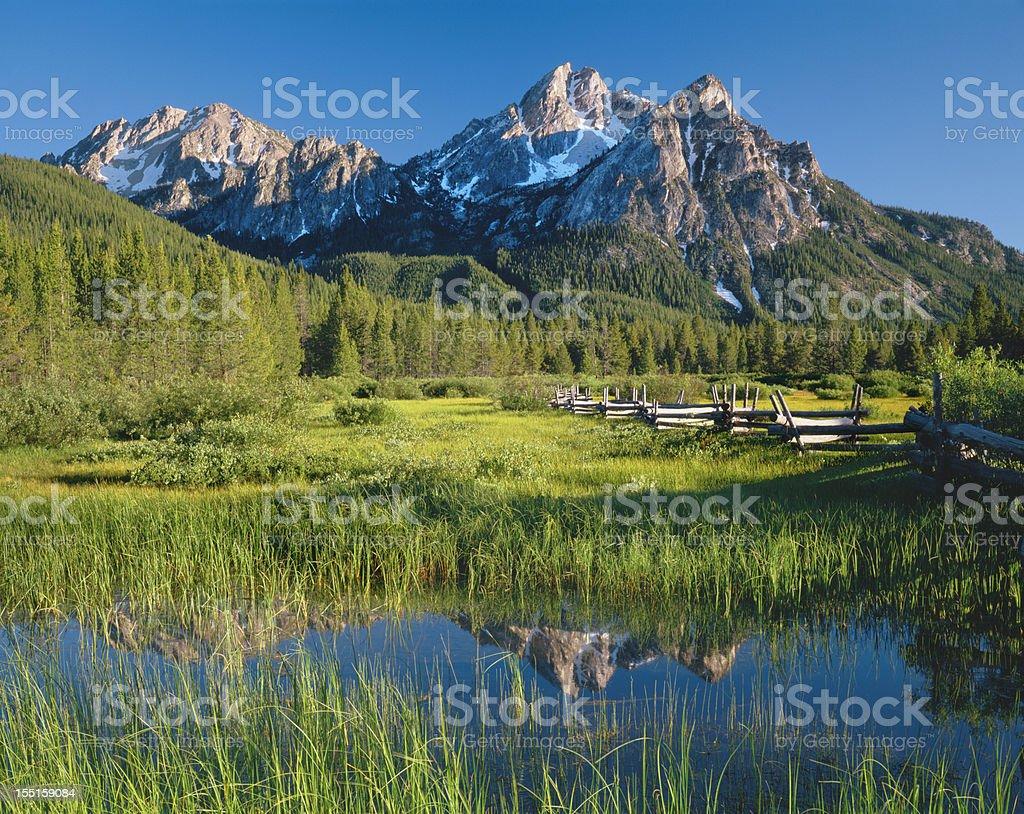 Morning light reflections (P) stock photo
